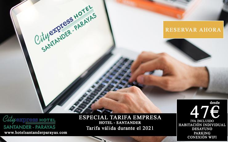 tarifa empresas para comerciales en Santander - hotel junto polígono industrial Raos y polígono industrial Candina